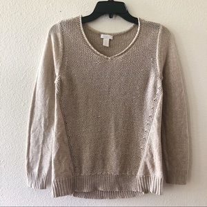 Chico's Open Knit Sweater Top